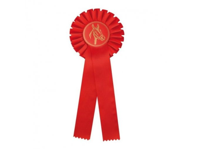 Kokarda jednořadá CK1 červená průměr 12,5 cm, délka 31 cm