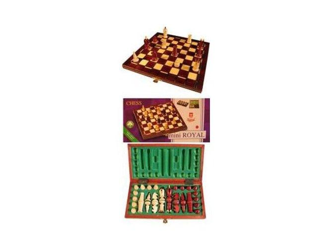 Šachy dřevěné ACE hnědé