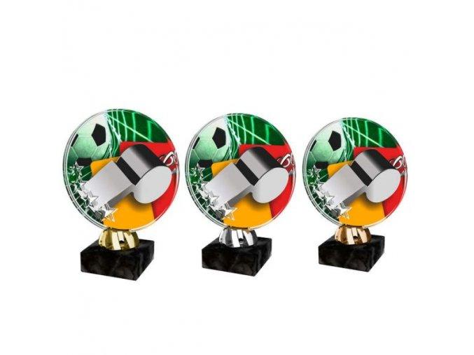 Akrylátová trofej CACL2103M7 Fotbal
