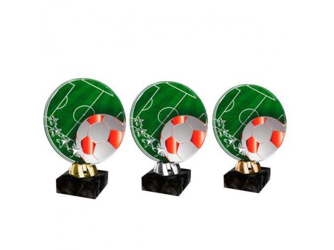 Akrylátová trofej CACL2103M6 Fotbal