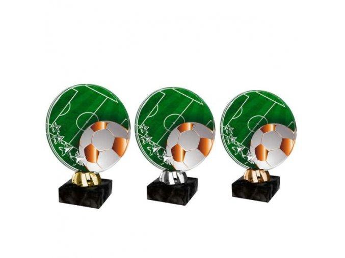 Akrylátová trofej CACL2103M4 Fotbal