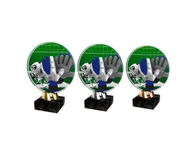Akrylátová trofej CACL2103M3 Fotbal