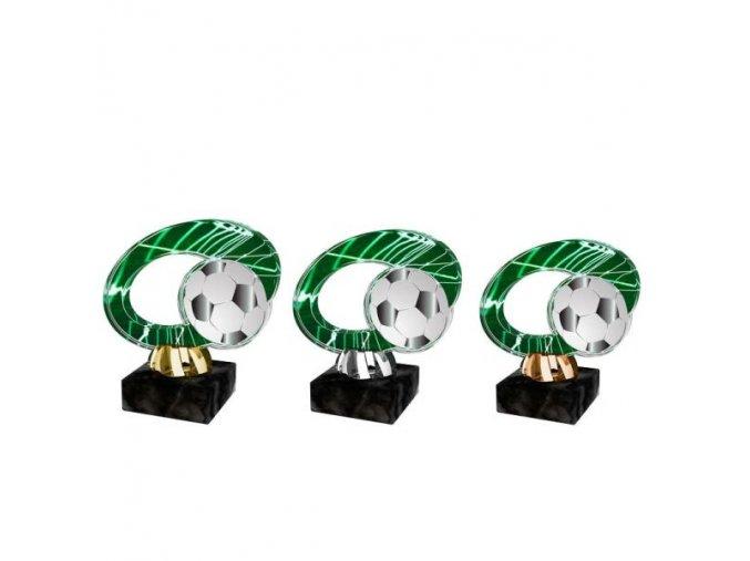 Akrylátová trofej CACL2102M4 Fotbal
