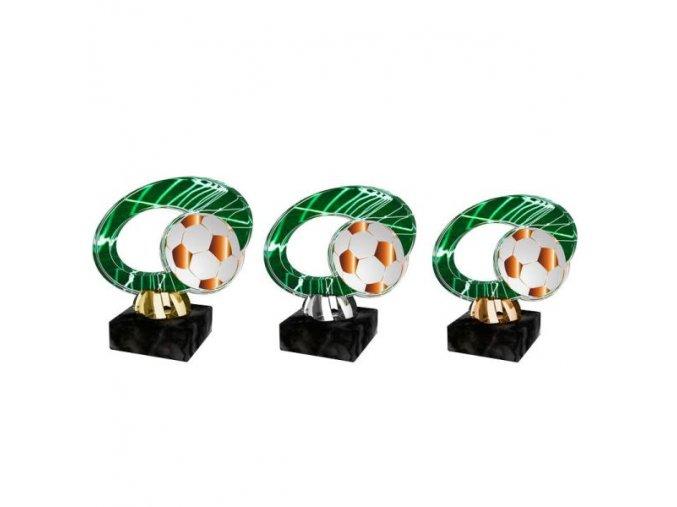Akrylátová trofej CACL2102M3 Fotbal