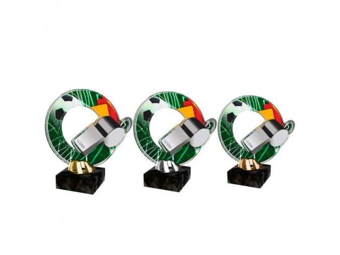 Akrylátová trofej CACL2101M6 Fotbal