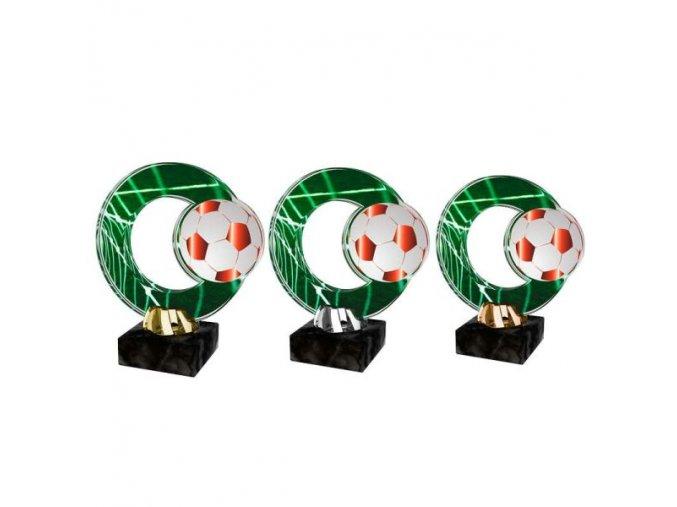 Akrylátová trofej CACL2101M4 Fotbal
