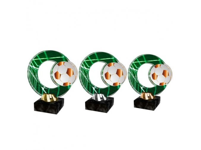 Akrylátová trofej CACL2101M2 Fotbal