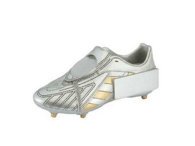 Trofej  CFG630 fotbalová bota stříbrná
