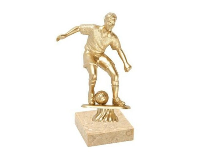 Figurka  CF220 fotbal zlatá Výška 11cm