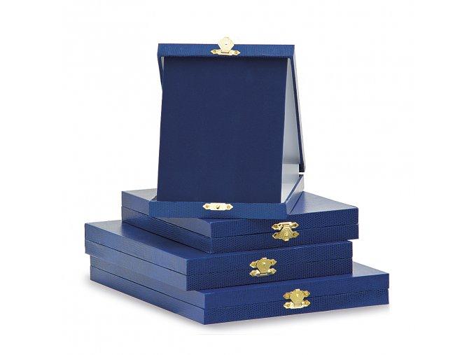 Krabička na kovové plakety 7228 modrá