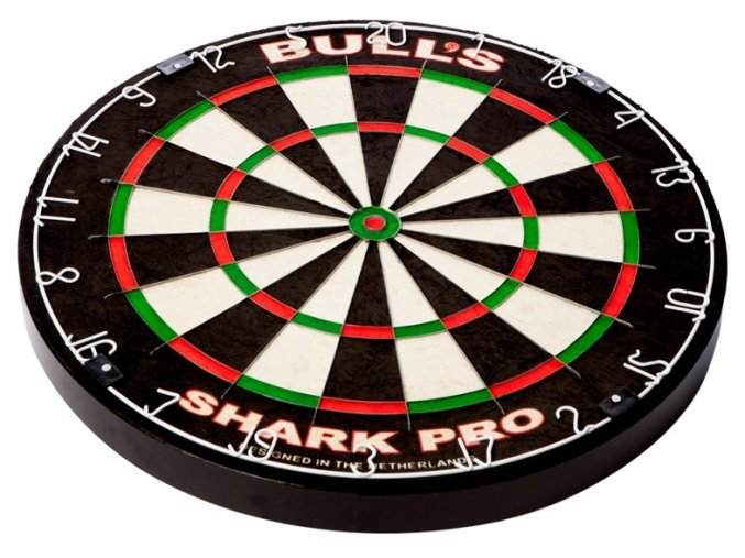 68004 Bull's Shark Pro Dartboard flat