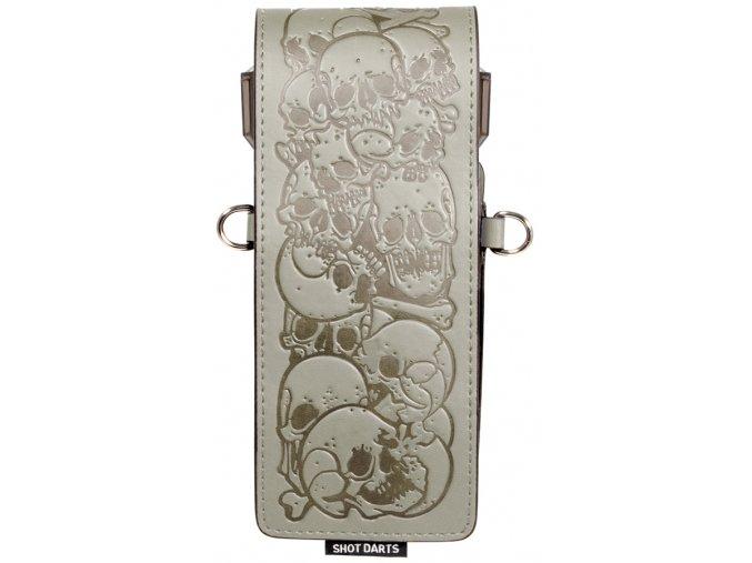SM4061 Shot Inked Wallet Bones Grey Front