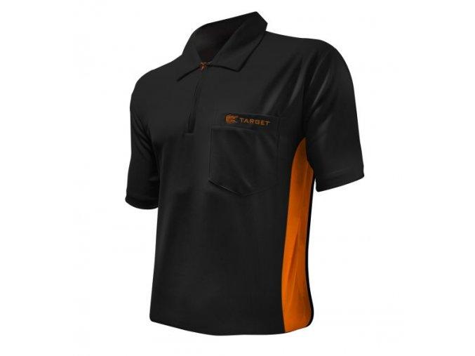 Tričko COOLPLAY DART SHIRT HYBRID black/orange