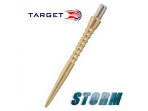 Hroty steel STORM POINT GROOVED gold 30 mm