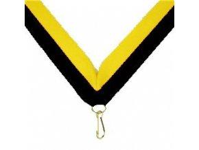 Stuha Černo-žlutá V 2cm