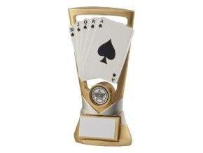Trofej plaketa CRF2069 karty  Výška 18cm