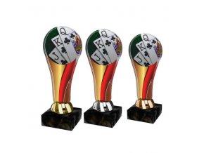 Akrylátová trofej ACL2100M38 Karty