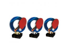 Akrylátová trofej CACL2101M14 Stolní tenis
