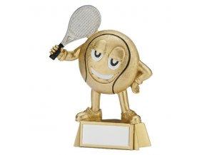 Trofej  CRF2047 tenisový míček s raketou Výška 9cm