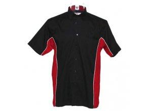 Košile CKK8185 black & red