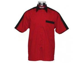 Košile CKK8175 red & black