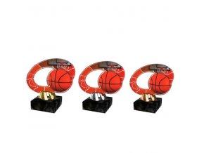 Akrylátová trofej CACL2102M9 Basketbal