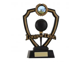 Trofej plaketa CRF0109 golfový míček Longest Drive Výška 18,5cm