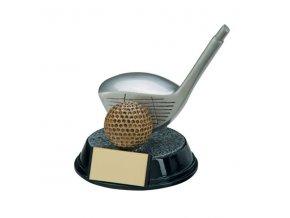 Trofej plaketa CRF4161 golf  Výška 13cm