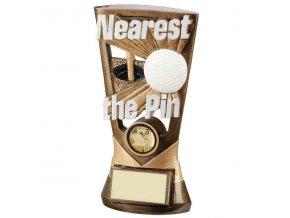Trofej plaketa CRF3044 golfový míček a hole Nearest The Pin  Výška 18cm