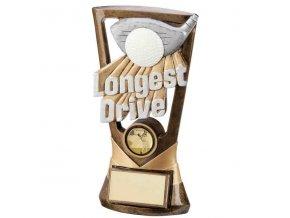 Trofej plaketa  CRF3043 golfový míček a hole Longest Drive Výška 18cm