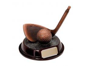 Trofej  CRF0212 golfová hole, golfový míček   Výška 11cm