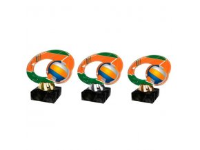 Akrylátová trofej CACL2102M20 Volejbal