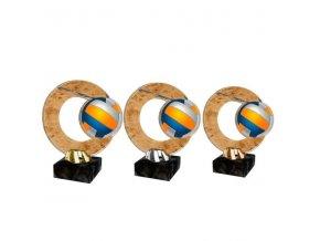 Akrylátová trofej CACL2101M18 Volejbal