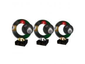 Akrylátová trofej CACL2101M29 Kulečník