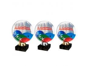 Akrylátová trofej CACL2103M27 Bowling
