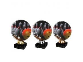 Akrylátová trofej CACL2103M26 Bowling