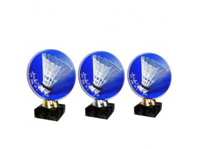 Akrylátová trofej CACL2103M17 Badminton