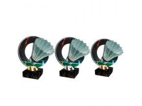 Akrylátová trofej CACL2101M17 Badminton