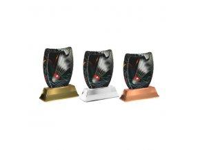 Akrylátová trofej ACE2002M19 Badminton