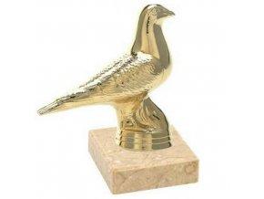 Figurka CF626 holub  zlatá