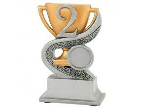 Trofej  CFG902 2. místo s pohárem  Výška 12cm