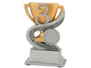 Trofej  CFG903 3.místo s pohárem   Výška 12cm