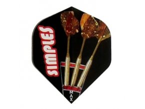 Letky POWER MAX standard black simples darts