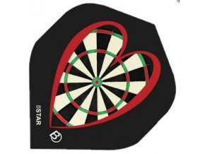 Letky FIVE-STAR standard black/red target