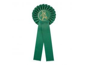 Kokarda jednořadá CK1 zelená průměr 12,5 cm, délka 31 cm