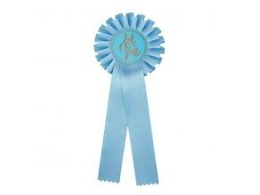 Kokarda jednořadá CK1 světle modrá průměr 12,5 cm, délka 31 cm