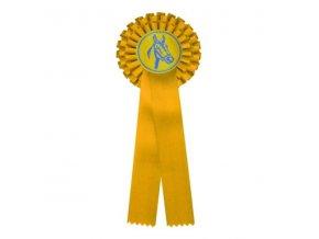 Kokarda dvouřadá CK2 žlutá průměr 12 cm, délka 31cm