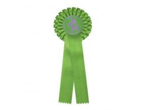 Kokarda dvouřadá CK2 zelená průměr 12 cm, délka 31cm