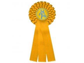 Kokarda třířadá CK3 žlutá průměr 13,5 cm, délka 37cm