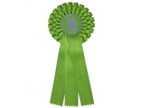 Kokarda třířadá CK3 zelená průměr 13,5 cm, délka 37cm